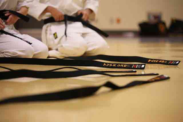 black belt in karate